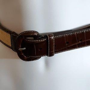 Lauren Ralph Lauren Italian Leather Straw Belt